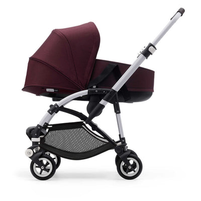 Bugaboo Bee⁵ Bassinet in Red Melange on Stroller