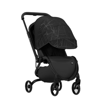 Mima Zigi 3G Stroller in Ebony with canopy extended