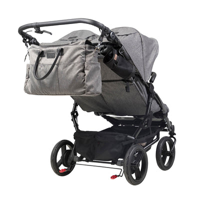 Mountain Buggy Duet Luxury Herringbone Double Stroller with matching diaper bag