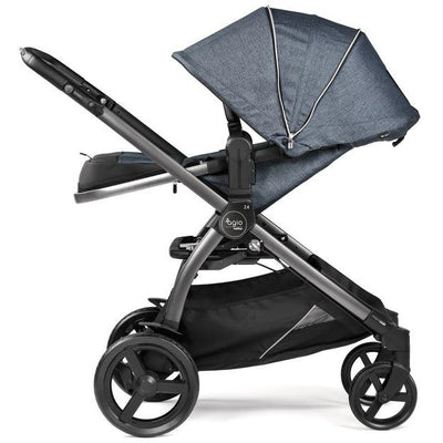 Agio by Peg Perego Z4 Reversible Stroller in Agio Mirage Blue side view