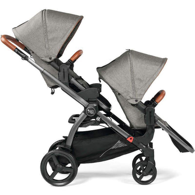 Agio by Peg Perego Z4 Companion Seat in Agio Grey on Z4 as a double stroller