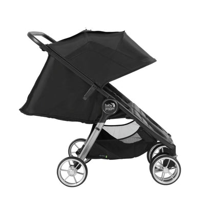 Baby Jogger City Mini® 2 Double Stroller in jet side view