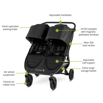 Baby Jogger City Mini® GT2 Double Stroller features