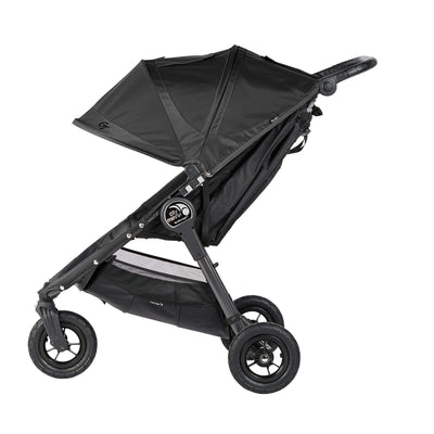 Baby Jogger City Mini® GT Travel System in Black and Gray side view
