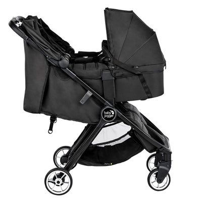 Baby Jogger 2019 City Tour 2 Double Carry Cot in Jet on stroller