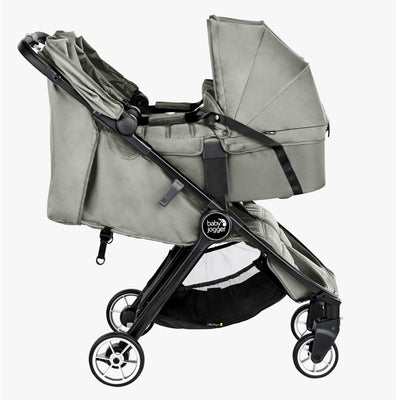 Baby Jogger 2019 City Tour 2 Double Carry Cot in Slate on stroller