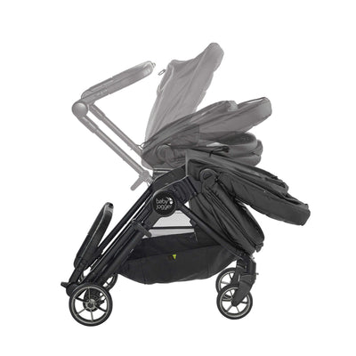 Baby Jogger City Tour LUX Foldable Pram in Granite folding