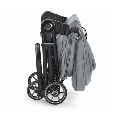 Baby Jogger City Tour LUX Foldable Pram in Slate on City Tour Lux Stroller folded