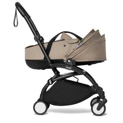 Babyzen YOYO Bassinet in Taupe on stroller