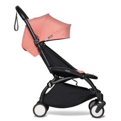 Babyzen YOYO Leg Rest attached to stroller in lifted position