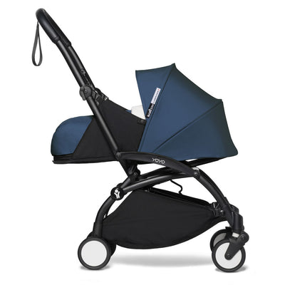 Babyzen YOYO² 0+ Newborn Stroller Bundle by Air France with Black Frame side view