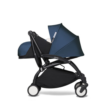 Babyzen YOYO² 0+ Newborn Stroller Bundle by Air France with Black Frame and handlebar folded