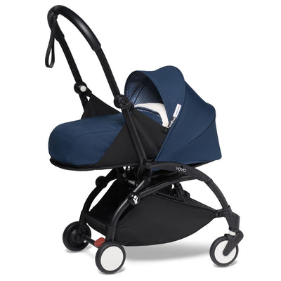 Babyzen YOYO² 0+ Newborn Stroller Bundle by Air France with Black Frame