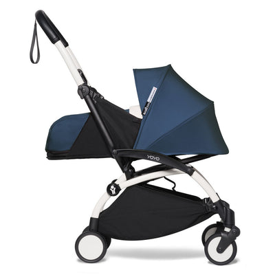 Babyzen YOYO² 0+ Newborn Stroller Bundle by Air France with White Frame side view
