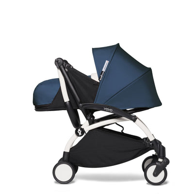 Babyzen YOYO² 0+ Newborn Stroller Bundle by Air France with White Frame and handlebar folded