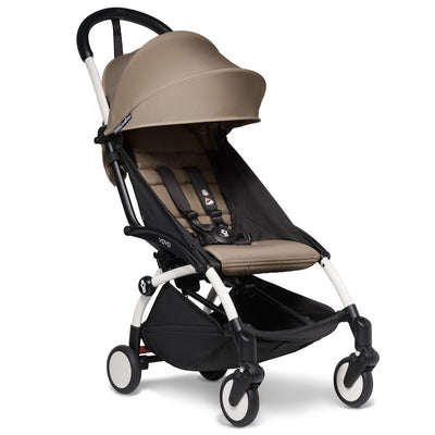 Babyzen YOYO² 6+ Stroller Bundle in Taupe with White Frame