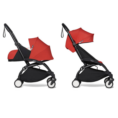 Babyzen YOYO² Complete Stroller Bundle With Black Frame in Red