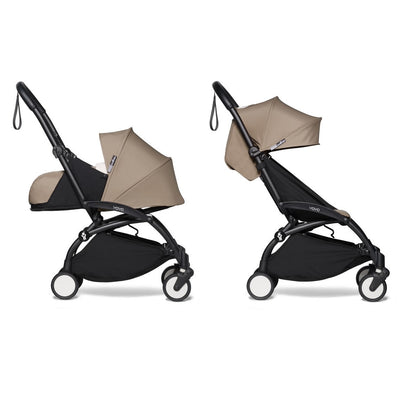 Babyzen YOYO² Complete Stroller Bundle With Black Frame in Taupe