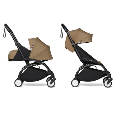 Babyzen YOYO² Complete Stroller Bundle With Black Frame in Toffee