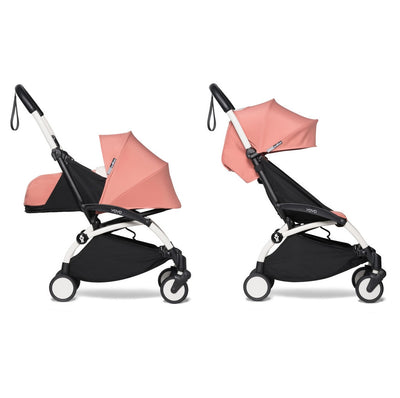 Babyzen YOYO² Complete Stroller Bundle With White Frame in Ginger