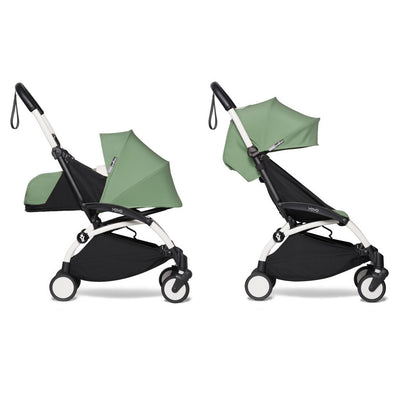 Babyzen YOYO² Complete Stroller Bundle With White Frame in Peppermint
