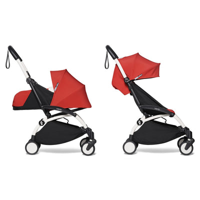 Babyzen YOYO² Complete Stroller Bundle With White Frame in Red