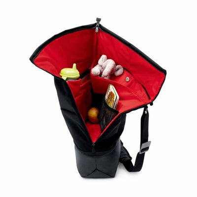 Bugaboo Diaper Bag in Black Filled with Things