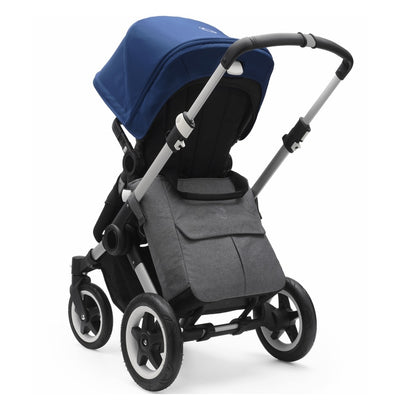 Bugaboo Mammoth Bag in Grey Melange attached to Bugaboo Buffalo stroller