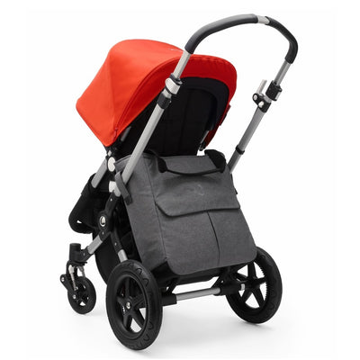 Bugaboo Mammoth Bag in Grey Melange attached to Bugaboo Cameleon stroller