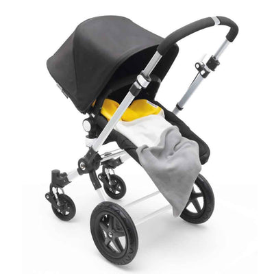 Bugaboo Light Cotton Blanket in Bright Yellow on stroller