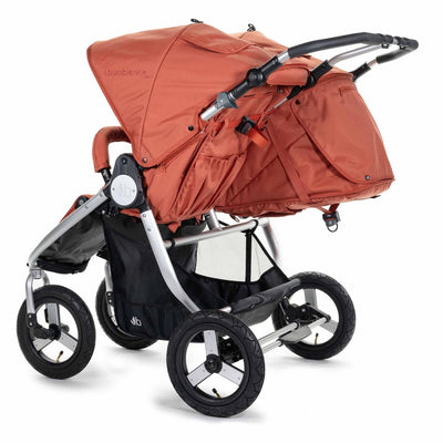 Bumbleride 2020 Indie Twin Stroller in Clay back view