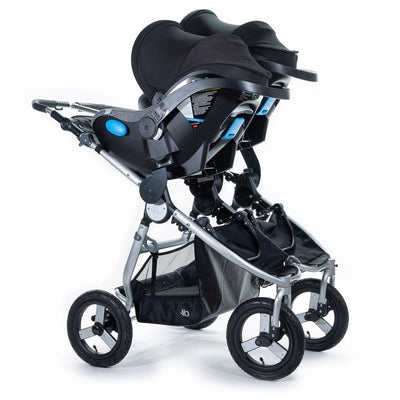 Bumbleride 2020 Indie Twin Stroller with two car seats