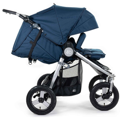 Bumbleride 2020 Indie Twin Stroller in Maritime Blue side view