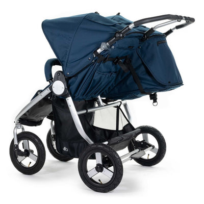 Bumbleride 2020 Indie Twin Stroller in Maritime Blue back view