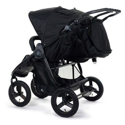 Bumbleride 2020 Indie Twin Stroller in Matte Black back view