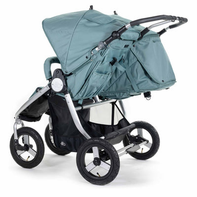 Bumbleride 2020 Indie Twin Stroller in Sea Glass back view