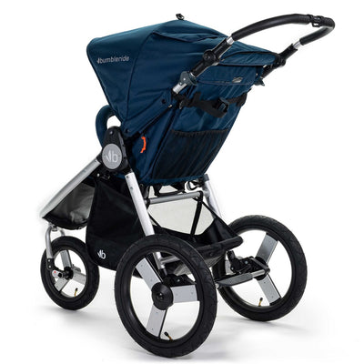 Bumbleride 2020 Speed Running Stroller in Maritime Blue back view