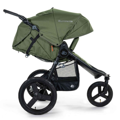 Bumbleride 2020 Speed Running Stroller in Olive Green with seat reclined