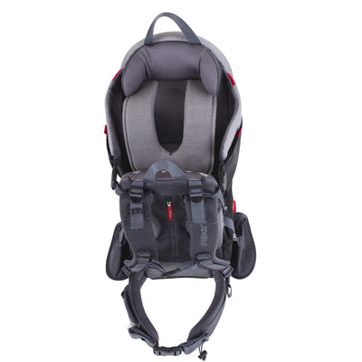 Phil&teds Escape Backpack Baby Carrier in Charcoal Grey viewing child harness