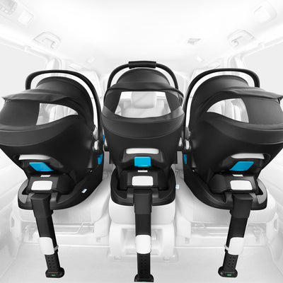 3 Clek Liing Infant Car Seat + Bases in car