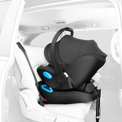 Clek Liing Infant Car Seat + Base in car