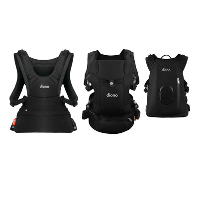 Diono Carus Complete 4-in-1 Baby Carrier in Black