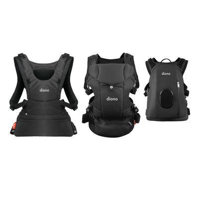 Diono Carus Complete 4-in-1 Baby Carrier in Grey Dark