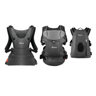 Diono Carus Complete 4-in-1 Baby Carrier in Grey Light