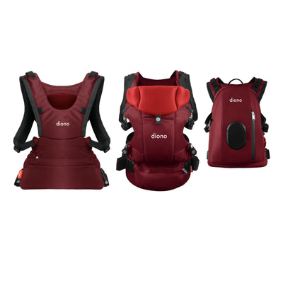 Diono Carus Complete 4-in-1 Baby Carrier in Red