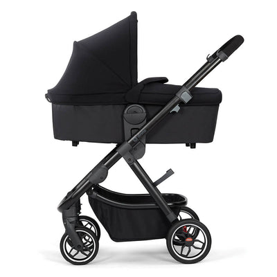 Diono Excurze Carrycot in Black Midnight on the stroller