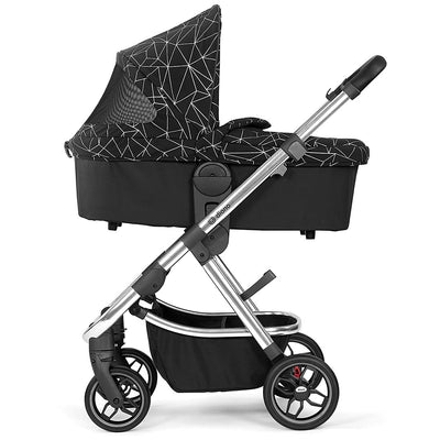 Diono Excurze Carrycot in Black Platinum on the stroller