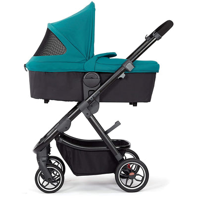 Diono Excurze Carrycot in Blue Turqoise on the stroller