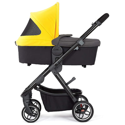 Diono Excurze Carrycot in Yellow Sulphur on the Excruze stroller