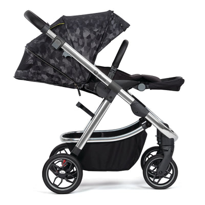 Diono Excurze Luxe Stroller in Black Camo side view and reclined